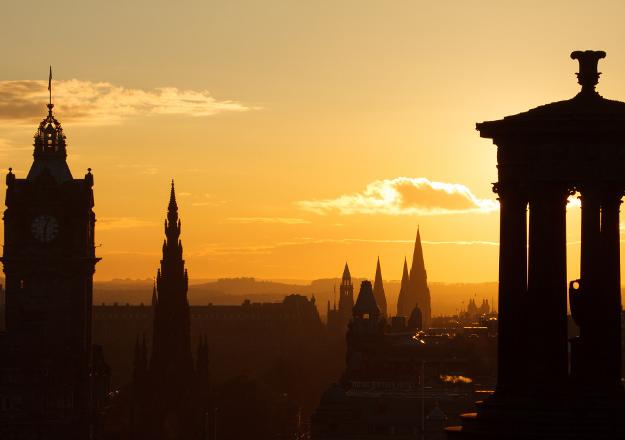 edinburgh sunset calton hill